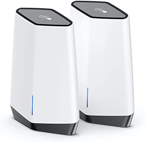 NETGEAR Orbi Pro WiFi 6 Tri-Band Mesh System (SXK80)   Router with 1 Satellite Extender for Business or Home   Covera...