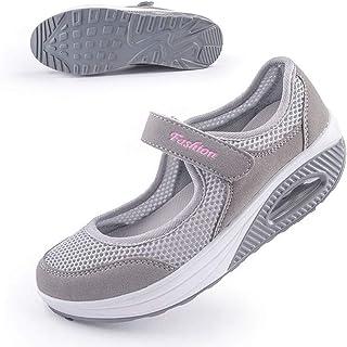 Sponsored Ad - Women's Comfort Working Nurse Shoes Adjustable Breathable Wedges Slip-on Walking Sneaker Fitness Casual Sho...