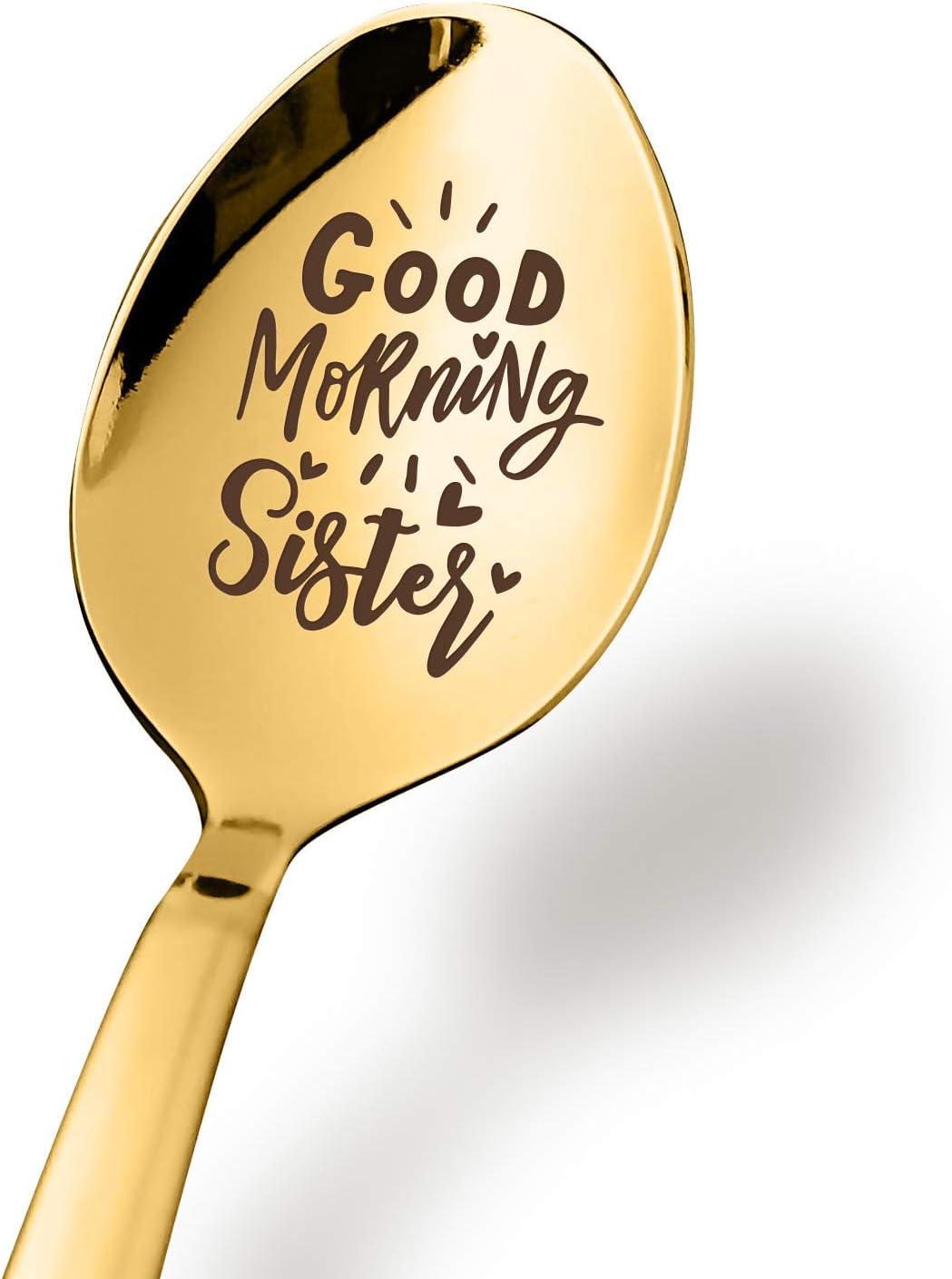 Aakihi Best Sister Gifts Good Morning Sister Spoon - Funny Siste