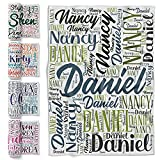 Custom Blanket, Personalized Throw Blankets, 30 x 40 Inches, Gift for Best Friend w/ Word Art Names, 8 Colors Styles & Fonts, Flannel Blanket for Couples, Adults, Family, Blankets for Birthday Gift