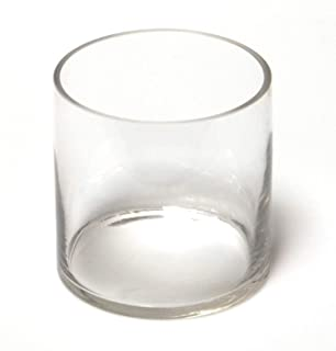 6-Pack Clear Round Glass Vase - Cylinder 4-1/2 Inch 4.5