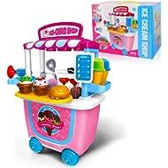 Gizmovine Ice Cream Pretend Toys 31pcs Pretend School Playset Food Truck Ice Cream Cart Baby Toys...