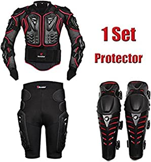 AKAUFENG Motorrad Protektorenjacke Protektorenhemd Motorrad S 5XL, MTB Protektoren Schutzkleidung Schutzjacke