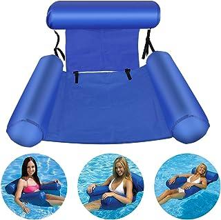 Bilisder Hamaca Flotante Inflable Hamaca de Agua Pool Lounge