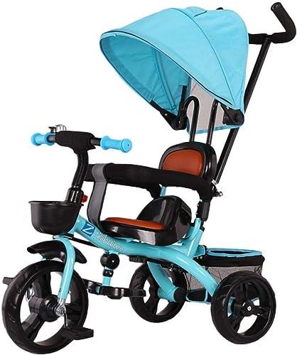 ventas de salida BABYGAMK Triciclo de Niños pequeños Triciclo Triciclo Triciclo y Silla de Paseo para Niños, Triciclo de Paseo de Altura Ajustable para 6 Meses - 6 años de Edad, ensamble rápido (Color   azul , Talla   OneTalla )  en venta en línea