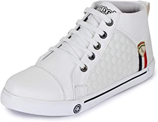 Trase Jazz White Leather Sneakers/Casual Shoes For Boys