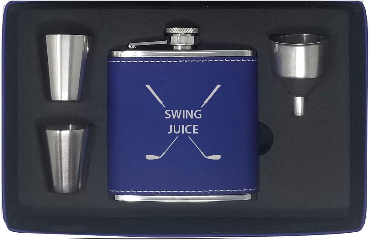 Swing Juice Flask Funnel High order Shot depot Glasses Box Gift - Golfing and