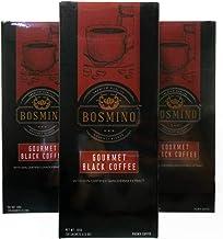 3X Bosmino Colombian Arabica Black Coffee Cafe Nior Organic Ganoderma Lucidum (1 Box: 30 Sachets)