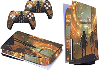 PS5 Skin for Console and Controller, Vinyl Sticker Decal Cover for Playstation 5, Whole Body Skin Protector Durable, Scrat...