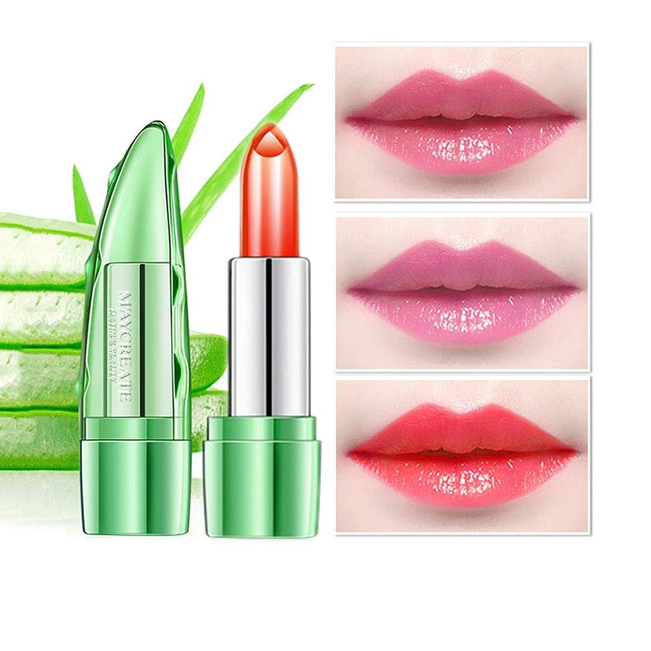 ピーブ癌ポット1ピースアロエゼリーカラー変更温度口紅、長続きがする保湿唇ケア変色口紅リップペンシルリップグロス (3)