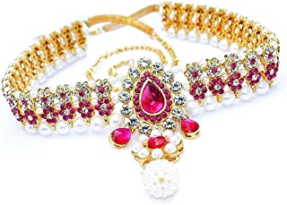 NEW BOMBAY JEWELLERY Present New designing Waistband ( Color : Pink / Size : 40 Inch adjustable )