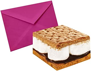 iscream Sugar-riffic! Pack of 8 S'Mores Note Cards with Envelopes