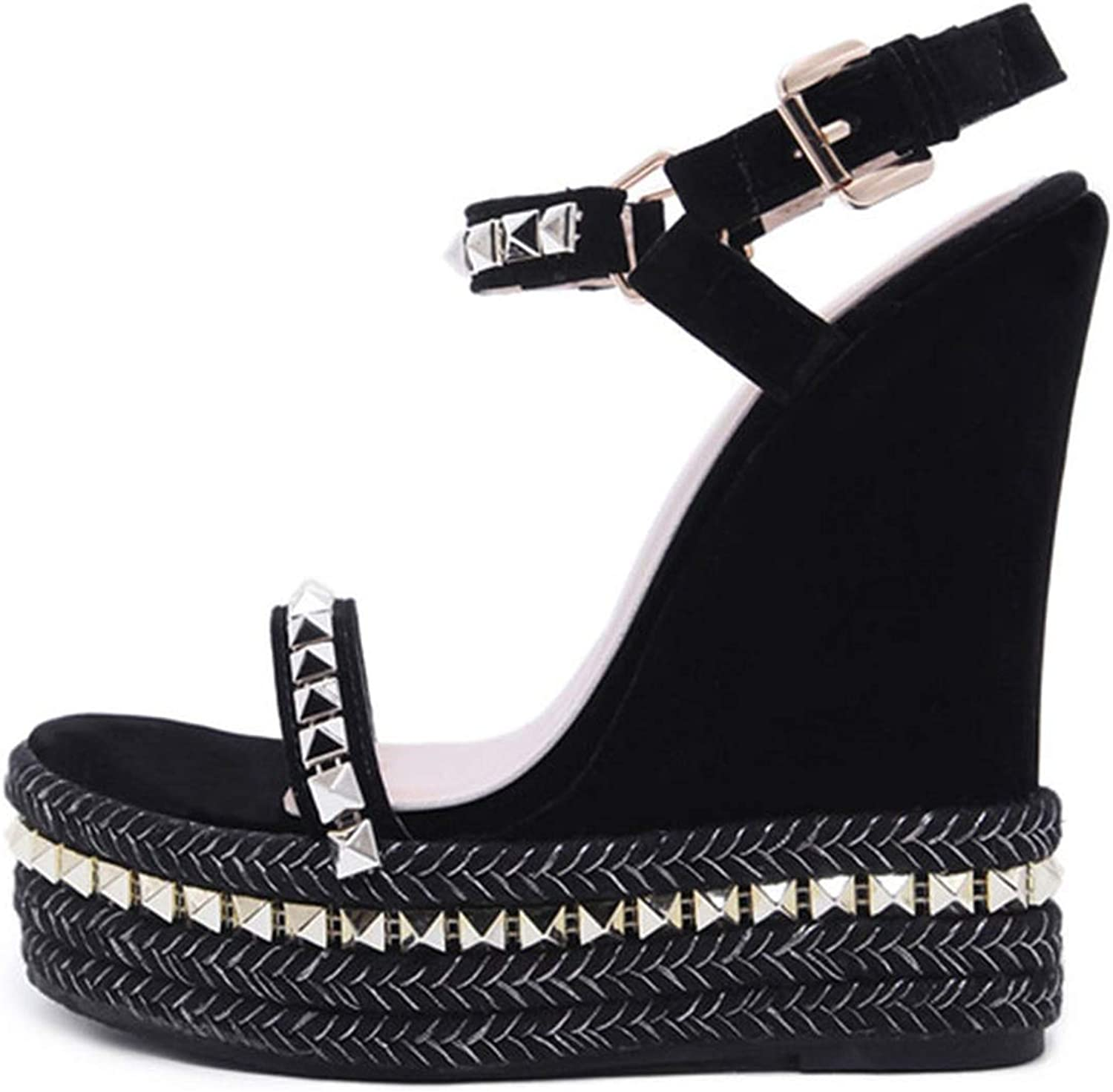 Rome Style Comfortable Wedges Sandals Platform shoes Woman Crystal Gladiator Sandals