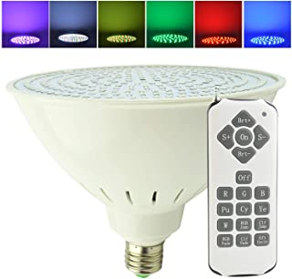 Aliyeah 35W Par56 E27 Color Changing LED Swimming Pool Light Remote 300-500W 12V Incandescent Bulb Replacement Pentair Hayward 12V Light Fixture (Switch Control + Remote Control)