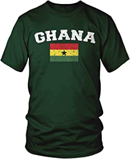 Men's Flag of Ghana, Faded Ghanaian Flag T-Shirt