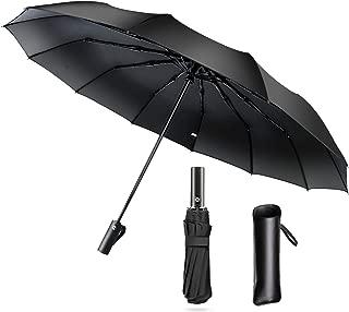 Cuby Umbrella, Windproof Umbrella,12 Ribs Auto Open Close Sun&Rain Umbrella (Black)