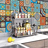 Tingz 20Pcs Pegatinas para azulejos(10x10cm),Adhesivo para azulejos de pared para decoración del hogar,Estilo marroquí Autoadhesivo Impermeable Vintage Retro Art Decor para cocina Baño (10X10cm/4X4in)