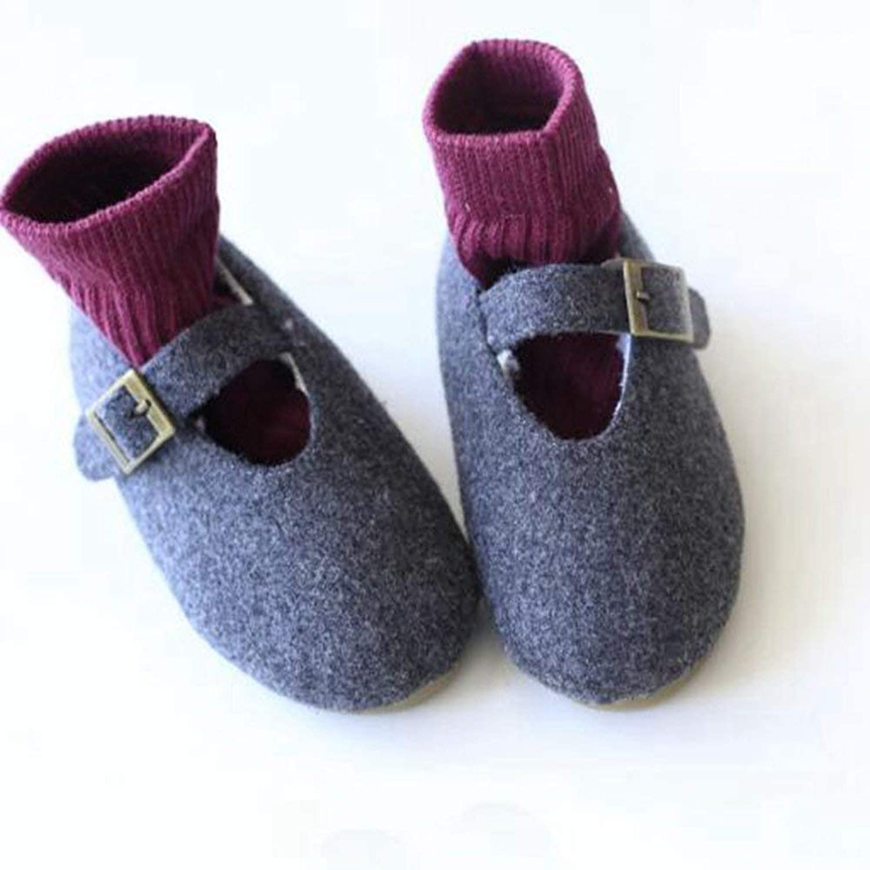 ベビーシューズ 男の子 上履き ベビー 履きやすい 子供靴 こども靴 柔らかい スエード 軽量 耐磨 靴 赤ちゃん かわいい ファーストシューズ 6~12ヶ月 出産祝い プレゼント おしゃれ (15.5cm, グレー)