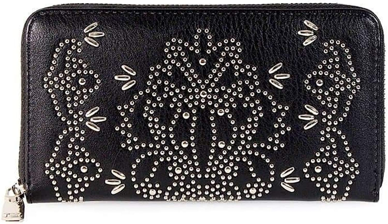 Ermanno Scervino Women's 12600071 Black Leather Wallet
