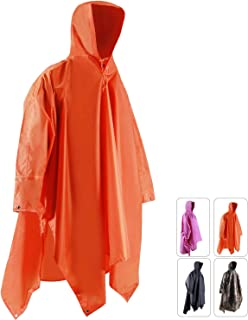 REDCAMP Waterproof Rain Poncho with Hood and Arms for Camping Hiking, 3 in 1 Multifunctional Lightweight Reusable Raincoat...