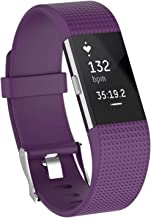Aheadife Wristband Replacements Bands Compatible for Fitbit Charge 2, Adjustable Sport Bands Watch Accessories for Women& ...