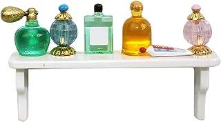 JENPECH Prateleira de perfume para casa de bonecas, ornamentos de casa, miniatura simulada de perfume, prateleira, modelo ...