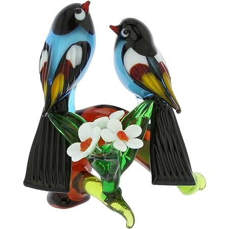 Garden Bird Animal Figurine COCKATOO PARROT Gartendeko Glass Mouth Blown 30cm Incl Wand
