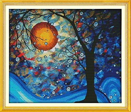 Joy Sunday Cross Stitch Kits Counted Cross Stitch Kit Cross Stitching Patterns The Tree of Dreams product image