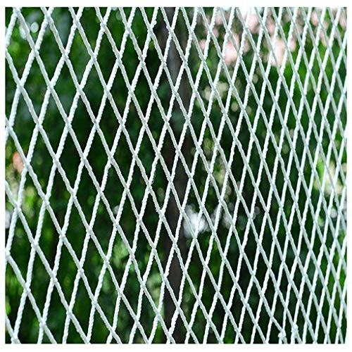ZHAS Rete da Giardino Balcone Scale Rete anticaduta Giardino Asilo Decorazione Rete Isolamento Rete Arrampicata Amaca Altalena Rete di Corda in Nylon Bianco, Rete di Sicurezza per l'edilizia (Dim
