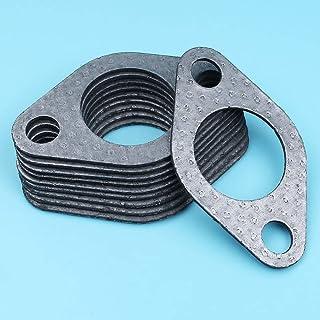 Haoyueda 10 unids/lote Muffler Escape Junta compatible con Honda GX390 GX340 GX270 GX240 8HP-13HP 188F 190F Motor Generador de motor Strimmer Creaskower