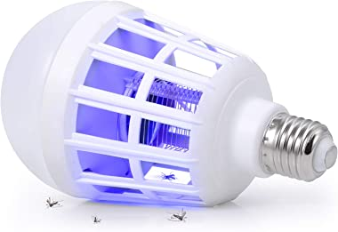 SUNNEST Bug Zapper, 2 in 1 Mosquito Killer Lamp Bug Zappers Light Bulb, Electronic Insect & Fly Killer for Home Kitchen I
