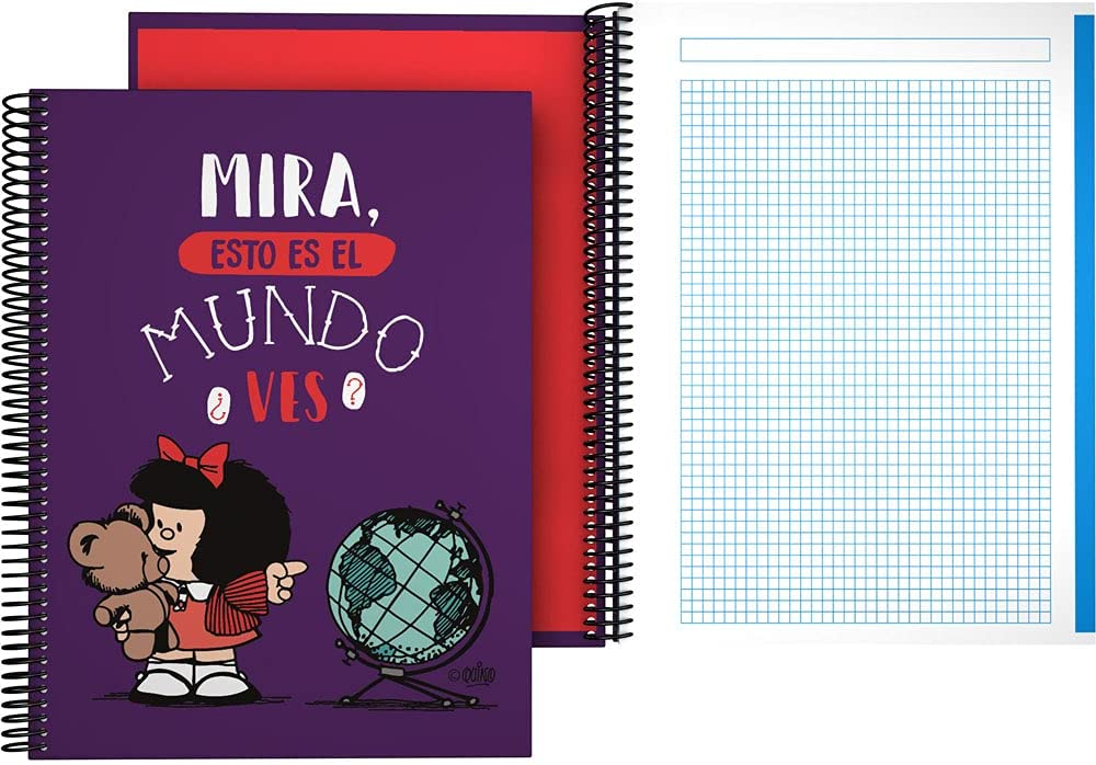 Mafalda 16502638 Notebook Over item New sales handling A4 Spiral Square Hard x Cover 5