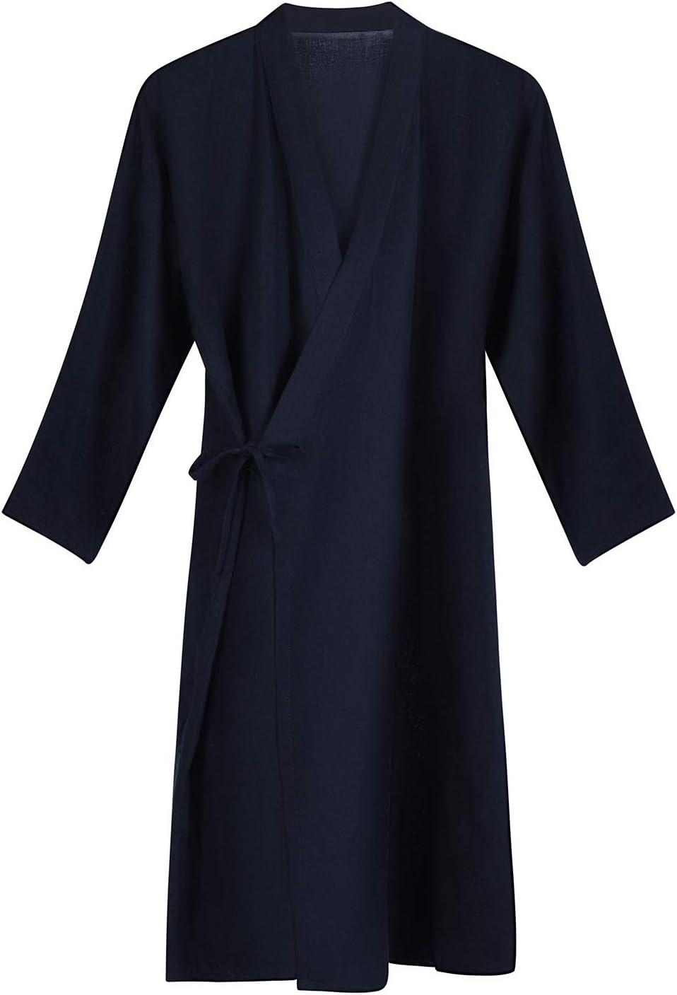 Cotton Yukata Kimono Robe Max 85% OFF Waffle Japanese Light Bathrobe Pajamas New product