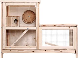 i.Pet Hamster Cage Guinea Pig Ferrets Rodents Rabbit Hutch Hutches Large Wooden Cage Running 80cm x 40cm x 60cm