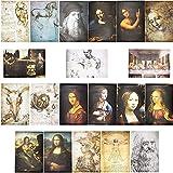 Leonardo da Vinci Poster für Dekorationen (33 x 48 cm, 20