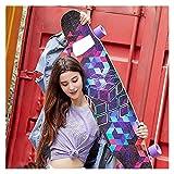 KHUY Longboard 46 Pulgadas Skateboard Adulto Completa Long Board Skateboards Downhill Dancing Surfskate, Pro Monopatin Longboard Maple Deck Cruiser para Adulto Niños Principiantes (Color : B)