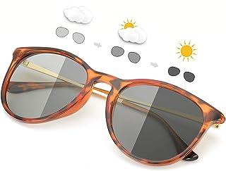 SIPHEW - Gafas de Sol Fotocromaticas Polarizadas Eliminar Reflejos-Protección 100% UVA/UVB
