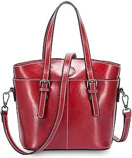 Wsw Simple Multi-Function Large Capacity Shoulder Bag Shoulder Slung Leather Handbag Gorgeous Fashion (Color : Red)