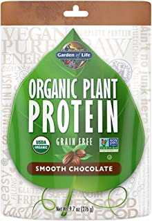 Garden of Life Organic Protein Powder - Vegan Plant-Based Protein Powder, Chocolate, 9.7oz (276g) Powder