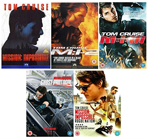 Mission Impossible 1-5 complete collection: Mission Impossible / Mission Impossible 2 / Mission Impossible 3 / Mission Impossible - Ghost Protocol / Mission Impossible: Rogue Nation