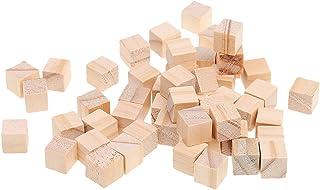 SONONIA DIY クラフト 10x10x10mm 100個 木製 ミニ キューブ 装飾用 立方体