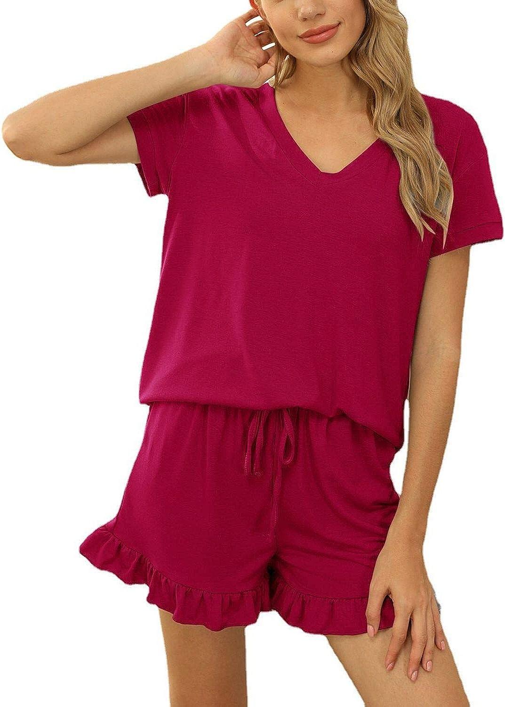Women's Shorts Pajama Set Short Beauty products Nightwear Pjs w Sleeve We OFFer at cheap prices Sleepwear