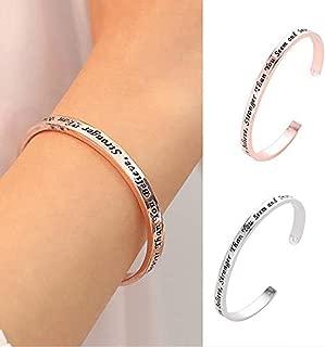 Karamoda Womens Crystal Bangle Bracelet Luxury Valentines Day