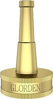 GLORDEN Brass Garden Hose Nozzle Heavy Duty High Pressure Hose Spray Nozzle