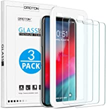 OMOTON [3 Stück] Schutzfolie für iPhone 11 Pro Max und iPhone XS Max [6.5 Zoll], Panzerglasfolie mit Positionierhilfe, Anti-Kratzen, Anti-Öl, Anti-Bläschen, Hülle Freundllich, 2.5D Kante