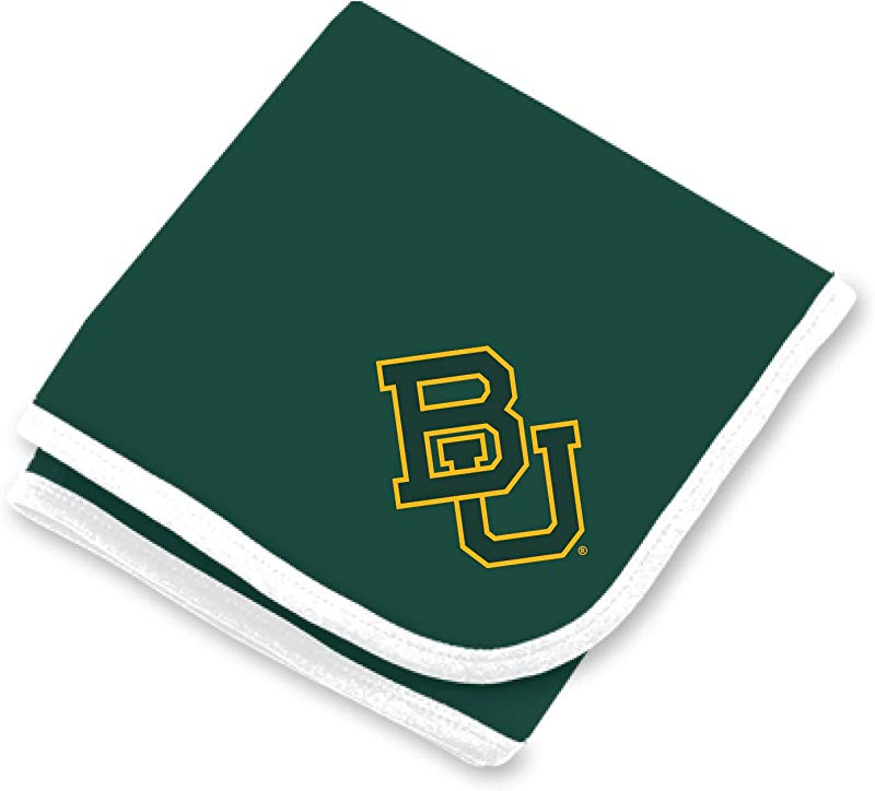 Baylor Bears NCAA Baby Newborn Infant One Size 30 X 35 Baby Blanket Green White