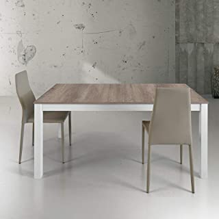 MF Tavolo da Pranzo Modena Bianco Laccato Lucido 160 x 90 cm