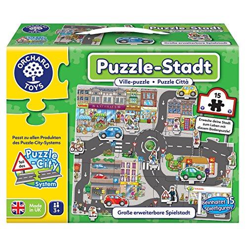 Orchard Toys 10245 - Puzzle, Puzzle-Stadt, 15 Teile, Spielfläche 66.6 x 54.2 cm