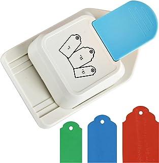 """ECOHU Paper Craft Tag Punch 1.5 """"2"""" 2.5 """"Tag Tag Lever Action Craft Punch Punch Paper Crafting Scrapbooking Cards Arts (برچسب) برای پروژه های DIY و موارد دیگر"""