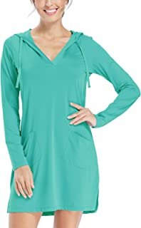 Willit Women's UPF 50+ Cover-Up Dress Sun Protection Long Sleeve Dress